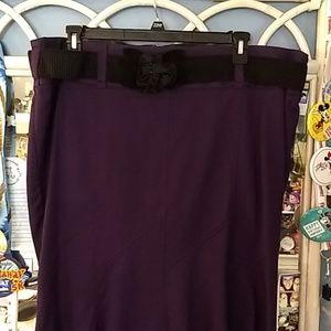 Purple Tweed Skirt sz 22 from Torrid